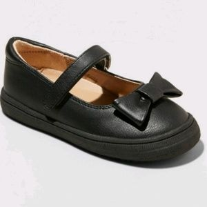 Toddler girls black dress shoes ballet flats